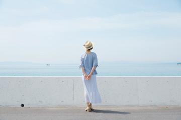 Wall Mural - 女性 海