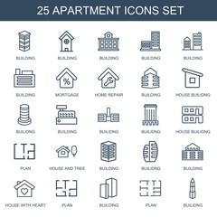 25 apartment icons