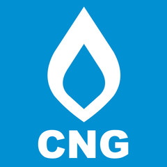 CNG gas sign - flame - fire -shape - flame (compressed natural gas)