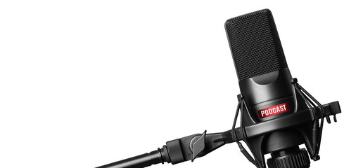 Studio microphone for recording podcasts isolated
