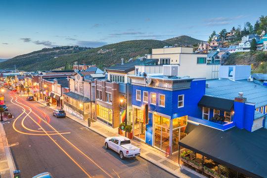 Main Street, Park City, Utah, USA