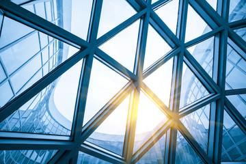Mesh metal frame skylight in exhibition hall Fotomurales