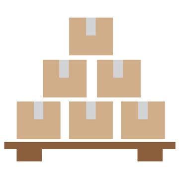 Inventory control icon on white background. flat style. Inventory control symbol. Solid inventory control sign.