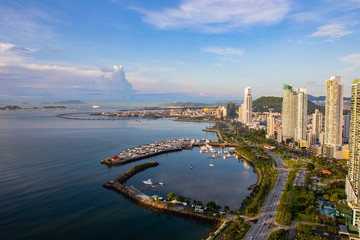 Panama City is located at the Pacific entrance of the Panama Canal, in the province of Panama. The city is the political and administrative center of the country, as well as a hub for banking