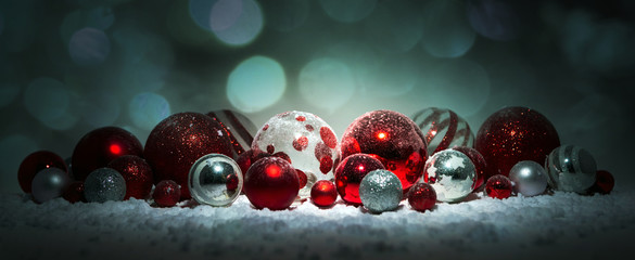Fotomurales - Christmas background with ornament and light atmosphere