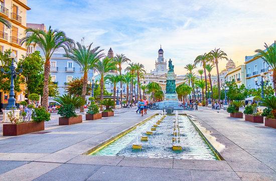 Walk in old town of Cadiz, Spain