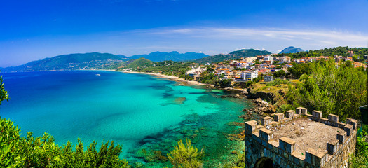 Scenic Palinuro with amazing beaches. tranquil summer holidays in beautiful Cilento National park. Italy