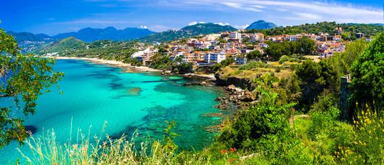 Photo sur Aluminium Europe Méditérranéenne Italian summmer holidays. beautiful seaside hiltown Palinuro in Cilento Natioanl park. Campania