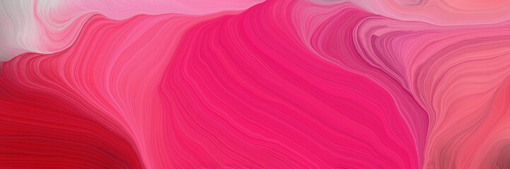 Photo sur Plexiglas Fractal waves curved motion speed lines background or backdrop with moderate pink, pastel violet and pale violet red colors. dreamy digital abstract art