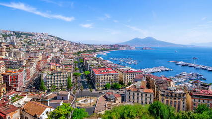 Fotorolgordijn Napels the beautiful coastline of napoli