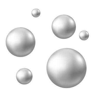 Realistic natural pearl isolated on white background.