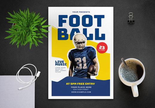 Football Tournament Flyer Layout