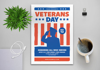 Veterans Day Flyer Layout