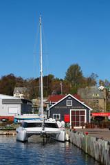 Baddeck pier in Cape Breton, Nova Scotia, Canada