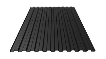3d rendering, 3d illustration. Decking, professional sheet for the roof. Building material, metal tile.