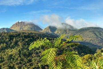 Volcan La Soufrière en Guadeloupe Caraïbes