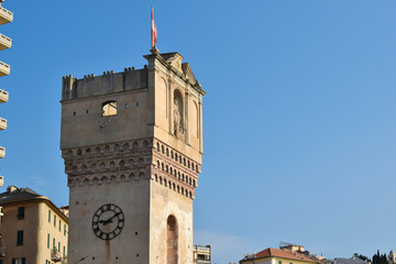 Fototapete - Torre Leon Pancaldo - Savona