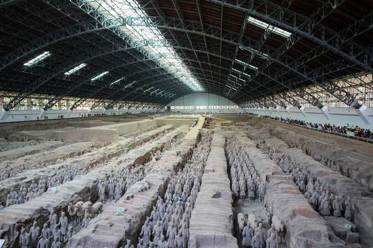 Terracotta Army or warriors outside of Xi'an China