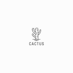 Cactus Logo Icon Design Template Vector Illustration