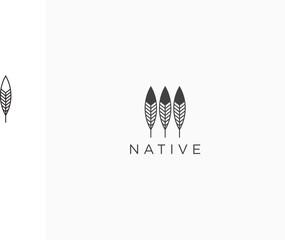 Native Logo Icon Design Template Vector Illustration