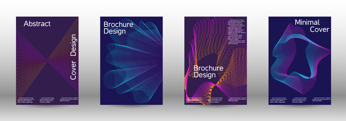 Cover design template set
