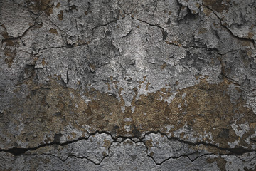 Free space. Blank space background texture. Cracks on the old concrete surface