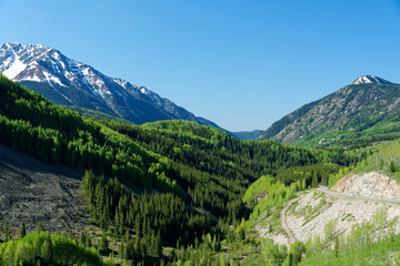 Scenery along the San Juan Skyway, Colorado