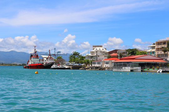 Port near the city center of Pointe-a-Pitre (Guadeloupe, France)