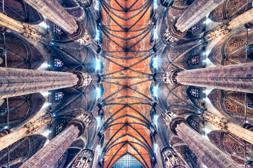 Ceiling of the cathedral of Milan, Italy Fototapete