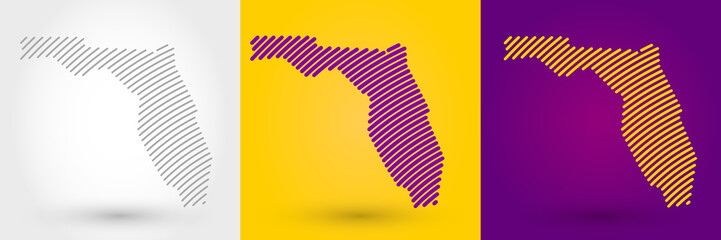 Striped map of Florida