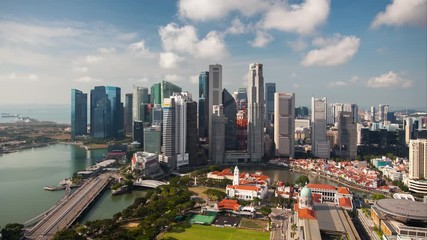 Wall Mural - Time lapse of Singapore at day - Marina bay