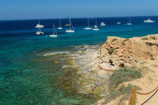 Beautiful cala en baster, north of Formentera