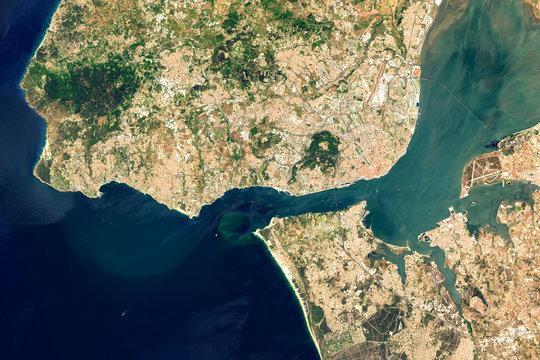 Satellite image of . Contains modified Copernicus Sentinel data 2019.
