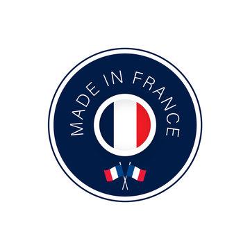 sticker made in france avec drapeau