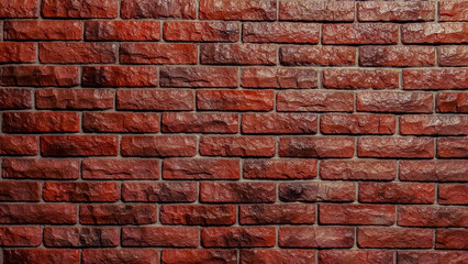 Red and blue brick wall texture for background