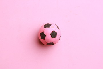 soccer ball toy in color background