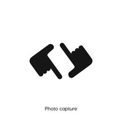 photo capture icon. capture vector symbol. Linear style sign for mobile concept and web design. capture symbol illustration. Pixel vector graphics - Vector