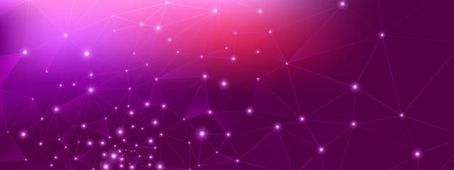 Obraz Big Data Business. Technology Vector. Pink  - fototapety do salonu