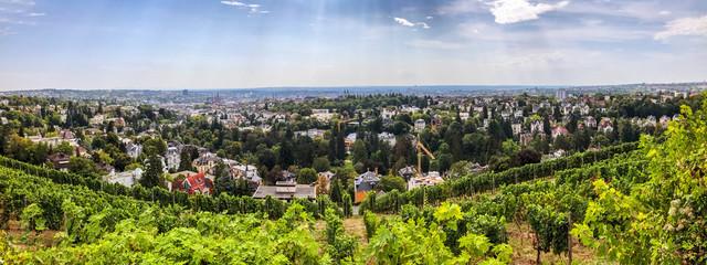 Blick über die Stadt Wiesbaden, Hessen, Deutschland
