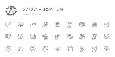 conversation icons set