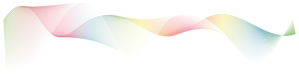 abstract wave lines on white background