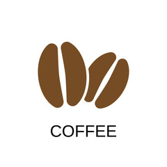 Coffee bean icon. Coffee bean symbol design. Stock - Vector illustration can be used for web.