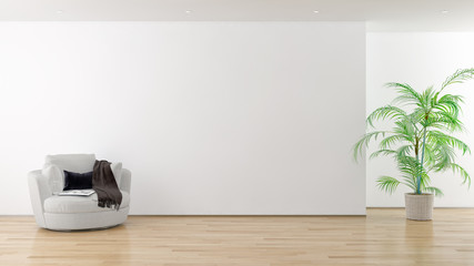 large luxury modern bright interiors room illustration 3D rendering Papier Peint