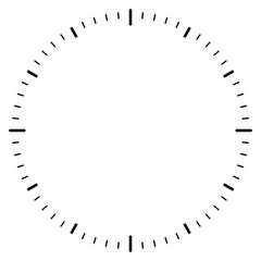 Blank clock dial face vector illustration