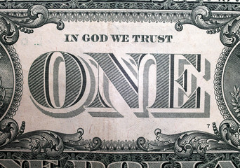 Printed roller blinds Imagination one inscription on a one-dollar bill, background, macro