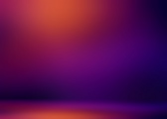 Purple violet red gradient blurred 3d background. Dark room illustration. Abstract wall and floor. Studio interior.