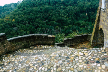 Barrage View of the house at the medieval village of Calcata