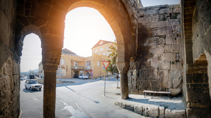 Republic of Dagestan, Derbent, Russia october 2019: Gate of Orta Kapa, the oldest in the city and dating from the VI century