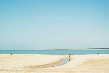 Minimal landscape of a beach