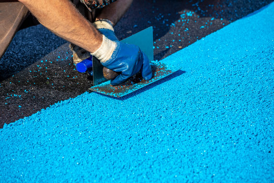 Mason leveling artificial rubber coating